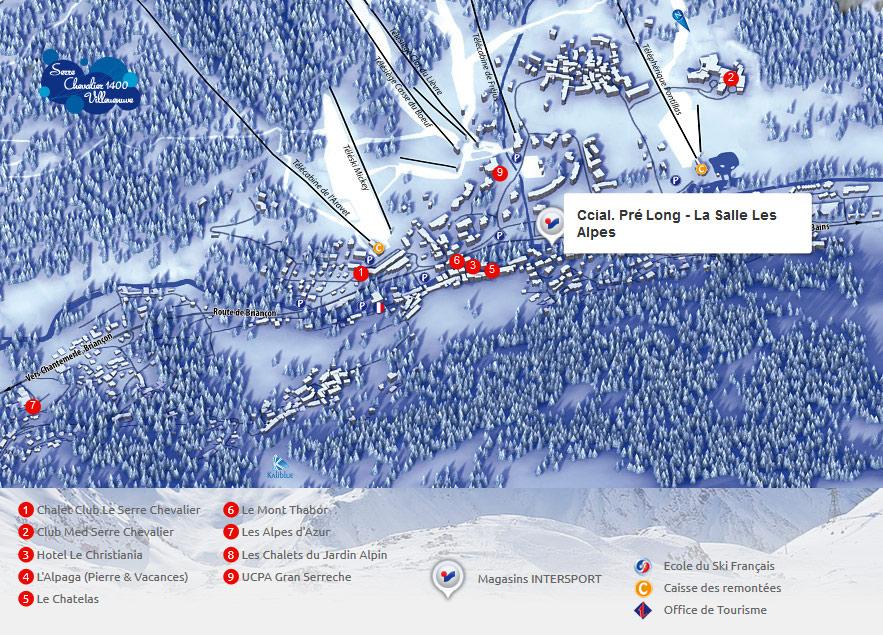 Intersport villeneuve serre chevalier 1400 pr long la - Office du tourisme la salle les alpes ...